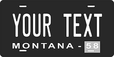 Montana 1958 License Plate Personalized Custom Auto Bike Motorcycle Moped tag