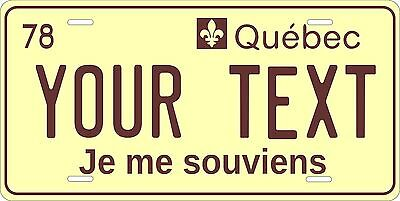 Quebec 1978 License Plate Personalized Custom Auto Bike Motorcycle Moped Tag
