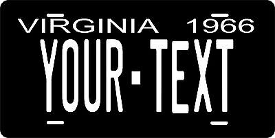 Virginia 1966 License Plate Personalized Custom Auto Bike Motorcycle Moped Tag