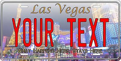 Las Vegas License Plate Personalized Custom Auto Car Bike Moped Motorcycle Tag