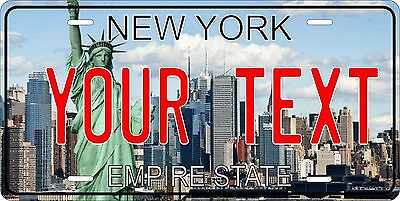 New York License Plate Personalized Custom Auto Car Bike Moped Motorcycle Tag