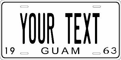 Guam 1963 License Plate Personalized Custom Auto Bike Motorcycle Moped key tag