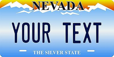 Nevada 2001 License Plate Personalized Custom Auto Bike Motorcycle Moped key tag
