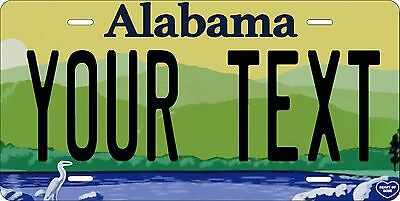 Alabama 2014 License Plate Personalized Custom Car Auto Bike Motorcycle Moped