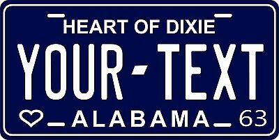 Alabama 1963 License Plate Personalized Custom Car Auto Bike Motorcycle Moped