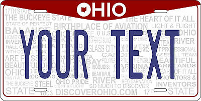 Ohio 2013 License Plate Personalized Custom Car Auto Bike Motorcycle Moped