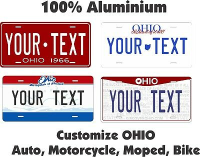 Ohio State  Any Text License Plate Personalized Custom Car Auto Bike Motorcycle