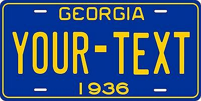 Georgia 1936 License Plate Personalized Custom Car Auto Bike Motorcycle Moped