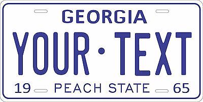 Georgia 1965 License Plate Personalized Custom Car Auto Bike Motorcycle Moped