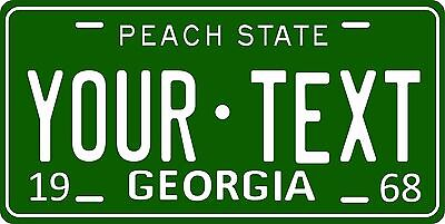 Georgia 1968 License Plate Personalized Custom Car Auto Bike Motorcycle Moped