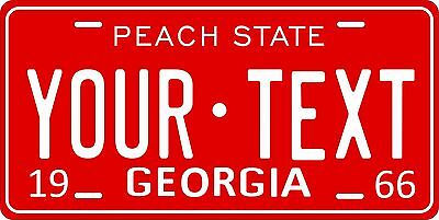 Georgia 1966 License Plate Personalized Custom Car Auto Bike Motorcycle Moped