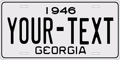 Georgia 1946 License Plate Personalized Custom Car Auto Bike Motorcycle Moped