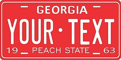 Georgia 1963 License Plate Personalized Custom Car Auto Bike Motorcycle Moped