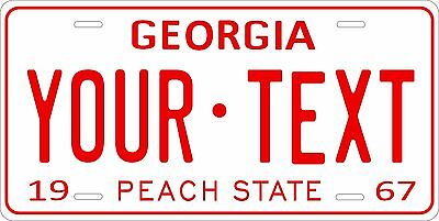 Georgia 1967 License Plate Personalized Custom Car Auto Bike Motorcycle Moped