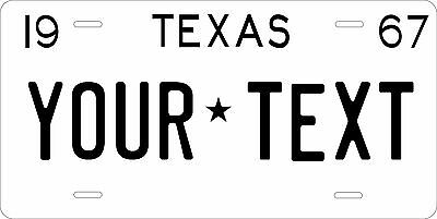 Texas 1975 License Plate Personalized Custom Car Auto Bike Motorcycle Moped