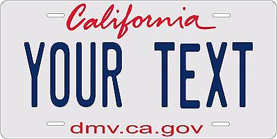 California 2011 License Plate Personalized Custom Auto Bike Motorcycle Moped