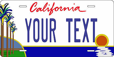 California Palm License Plate Personalized Custom Auto Bike Motorcycle Moped