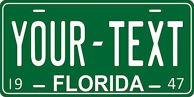 Florida 1947 License Plate Personalized Custom Auto Car Bike Motorcycle Moped