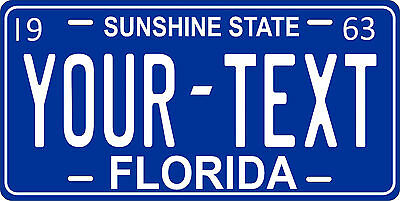 Florida 1963 License Plate Personalized Custom Auto Car Bike Motorcycle Moped