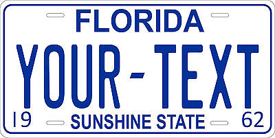 Florida 1962 License Plate Personalized Custom Auto Car Bike Motorcycle Moped