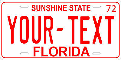 Florida 1972 License Plate Personalized Custom Auto Car Bike Motorcycle Moped