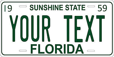 Florida 1959 License Plate Personalized Custom Auto Car Bike Motorcycle Moped