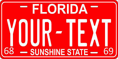 Florida 1968 License Plate Personalized Custom Auto Car Bike Motorcycle Moped