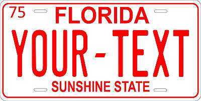 Florida 1975 License Plate Personalized Custom Auto Car Bike Motorcycle Moped