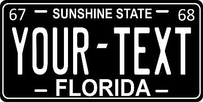 Florida 1967 License Plate Personalized Custom Auto Car Bike Motorcycle Moped