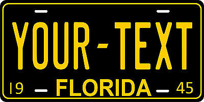 Florida 1945 License Plate Personalized Custom Auto Car Bike Motorcycle Moped