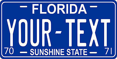 Florida 1970 License Plate Personalized Custom Auto Car Bike Motorcycle Moped