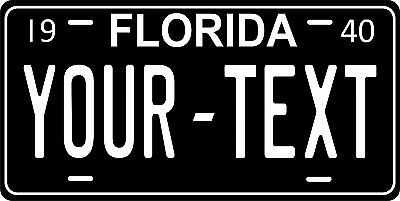 Florida 1940 License Plate Personalized Custom Auto Car Bike Motorcycle Moped