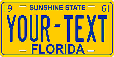 Florida 1961 License Plate Personalized Custom Auto Car Bike Motorcycle Moped