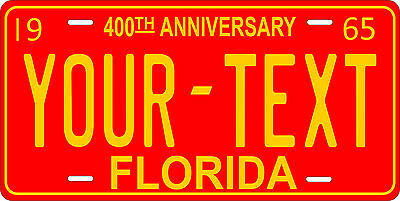 Florida 1965 License Plate Personalized Custom Auto Car Bike Motorcycle Moped