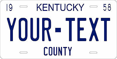 Kentucky 1958 License Plate Personalized Custom Car Auto Bike Motorcycle Moped
