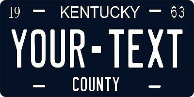 Kentucky 1963 License Plate Personalized Custom Car Auto Bike Motorcycle Moped