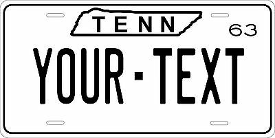 Tennessee 1963 License Plate Personalized Custom Car Auto Bike Motorcycle Moped