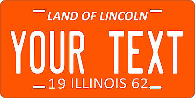 Illinois 1962 License Plate Personalized Custom Car Auto Bike Motorcycle Moped