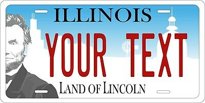 Illinois 2017 License Plate Personalized Custom Car Auto Bike Moped Motorcycle