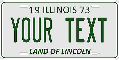 Illinois 1973 License Plate Personalized Custom Car Auto Bike Motorcycle Moped