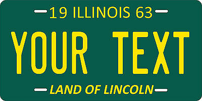 Illinois 1963 License Plate Personalized Custom Car Auto Bike Motorcycle Moped
