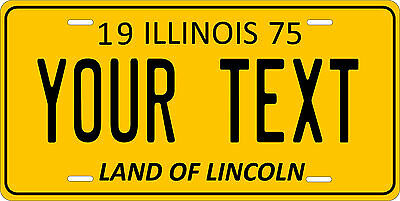 Illinois 1975 License Plate Personalized Custom Car Auto Bike Motorcycle Moped