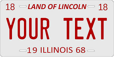 Illinois 1968 License Plate Personalized Custom Car Auto Bike Motorcycle Moped