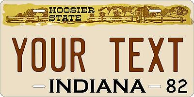 Indiana 1982 License Plate Personalized Custom Car Bike Motorcycle Moped