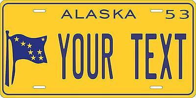 Alaska 1953 License Plate Personalized Custom Car Bike Motorcycle Moped Key Tag