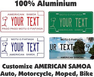 Samoa Custom  Personalized Auto Car Motorcycle Moped Bike Bicycle License plate