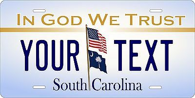 South Carolina In God License Plate Personalized Custom Auto Bike Motorcycle