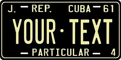 Cuba 1961 Custom Personalized Vehicle Car Auto Motorcycle Bike License Plate Tag