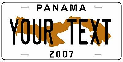 Panama 2007 License Plate Personalized Car Auto Bike Moped Motorcycle Custom Tag