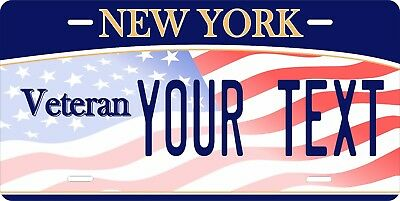 New York Veteran License Plate Personalized Car Auto Bike Moped Motorcycle